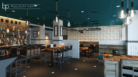 Element Oyster Bar & Seafood, Great Neck, NY - Construction Drawings and Rendering Completion.