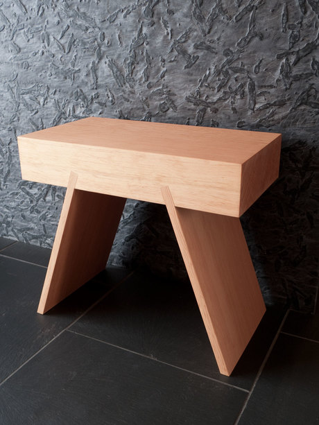 timber stool from scrap wood