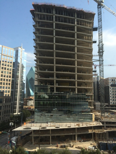 McKinney+Olive Tower curtain wall progress
