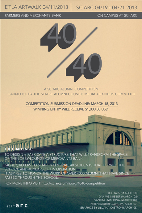 40/40 SCI-Arc Alumni Competition