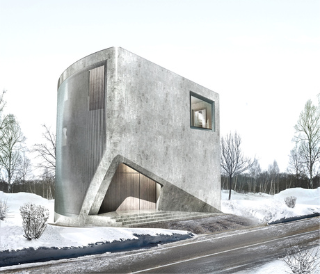 NISEKO HOUSE | Luxury Residential Unit in Niseko, Sapporo. Architecture Project, Under Construction, 2013-2015 Japan, Hokkaido. in collaboration with Affect-t