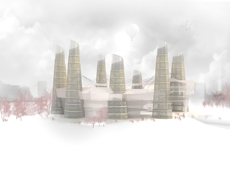 Thesis project render in with daylight