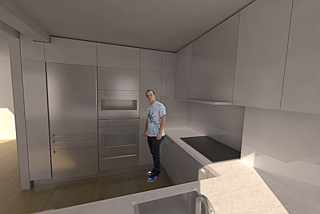 First 3ds max model /rendering, added a friend who is working on site in to it