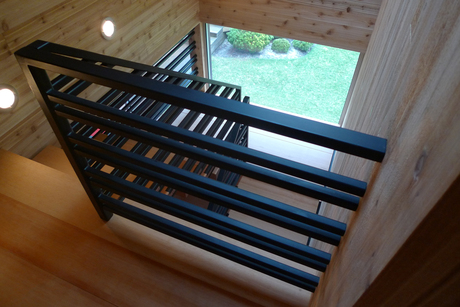 Stairway in Steel and Doug Fir