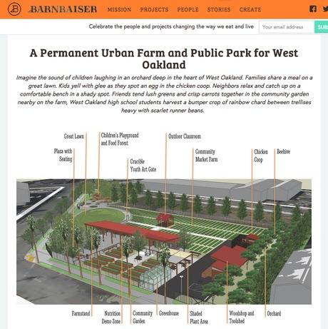 West Oakland Urban Farm and Park...permitted, seeks more funding
