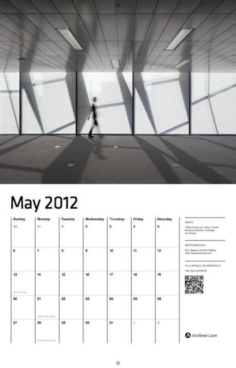 Archinect In Focus 2012 Calendar, all profits going to Architecture for Humanity... available for sale very soon...