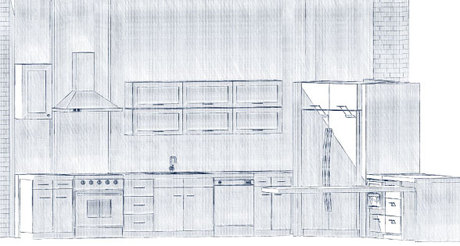 working on the kitchen design as part of a complete loft renovation.