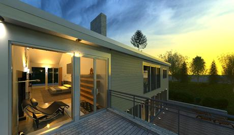 Newest rendering from our contemporary New-England Style sample project