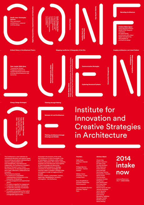 CONFLUENCE | INSTITUTE FOR INNOVATION AND CREATIVE STRATEGIES IN ARCHITECTURE A new Alternative school based on architecture and research in Lyon, France. www.confluence.eu