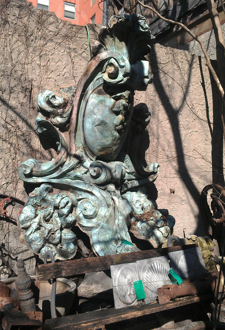 At architectural salvage found part of the original NYC Plaza hotel for reuse on our upcoming architectural remodel