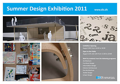 DIS Summer Design Exhibition at the Danish Royal Academy of Fine Arts