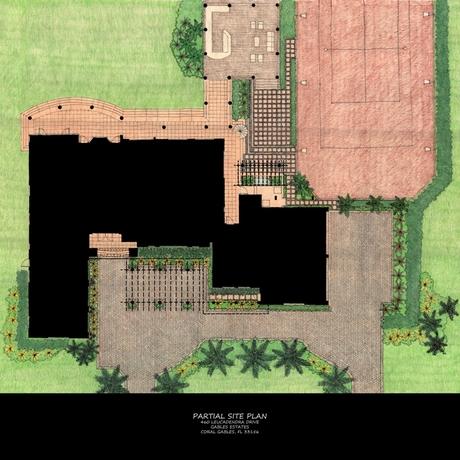 Partial Site Plan for 460 Leucadendra Dr.