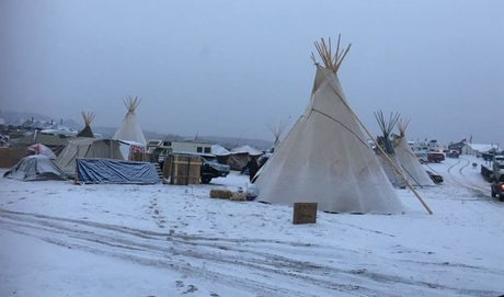Volunteered at camp school, Standing Rock