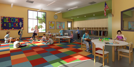School Classroom Renovation | Pflugervillee, Texas