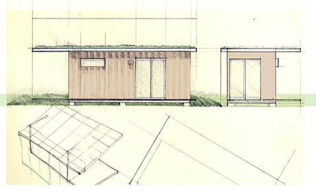 shipping container sketchitecture