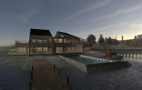 Bay Boathouse: rendering practice with SU & Vray