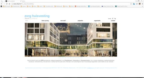 Web design launched (beta version). www.zorghuisvesting.2by4.nl