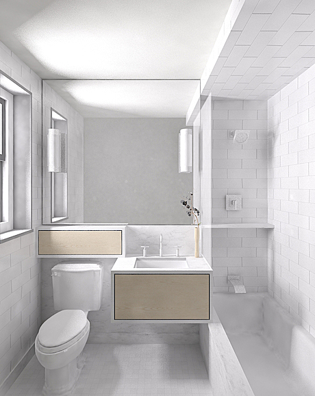 Client F master bath rendering