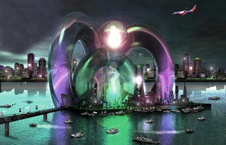 3D design for floating city