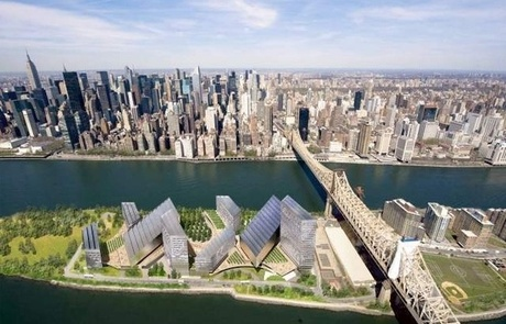 Cornell University's Tech Campus on Roosevelt Island: I am currently working with Cornell University Sustainable Design (CUSD) Sustainable Research Facility branch on the site. We are carrying out a feasibility analysis to determine whether or not LEED ND (Neighborhood Development) certification is achievable.