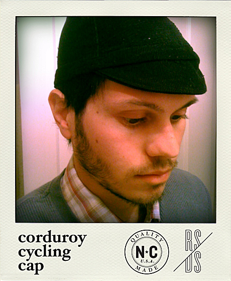 Hand-Crafted Corduroy Cycling Cap development