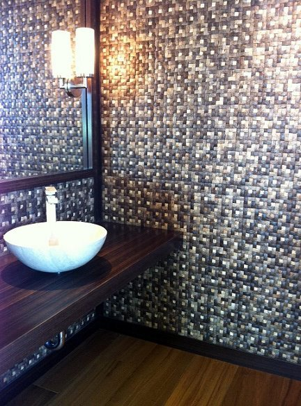 Walton Residence in Encinitas, CA. Powder Room...just completed