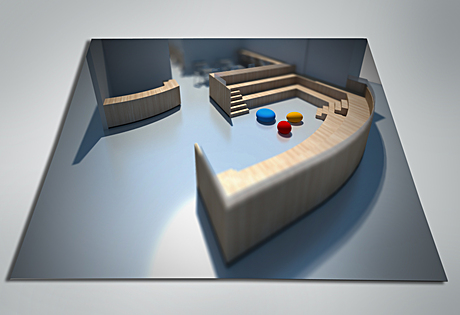 Seating design (AutoCAD/SkUp/VRay/PS CS5)
