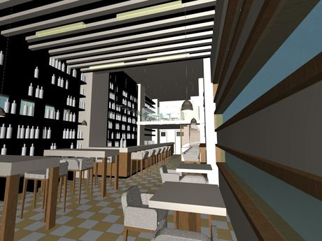 Currently working on a new Wine Bar in Athens (simple renders)