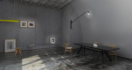 Interior Rendering - Studio in Wellington, New Zealand