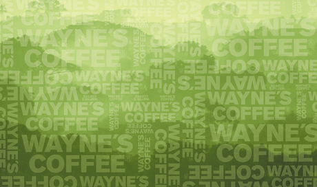 Wall design for Wayne's Cofffee stores in Sweden, Cooperation with Almén: Gesture Design and Wilund Entrepenad AB