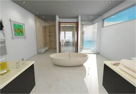 interior rendering bath