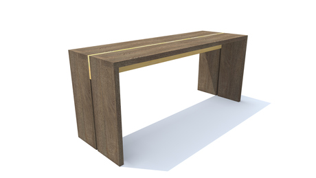 Bradley Reclaimed Bench - Rendering - Pioneer Table Company