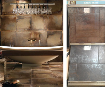 Our favorite material today - nickel and copper treated tiles