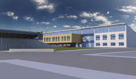 PDX Alt. High School: Exterior View (Work in Progress)