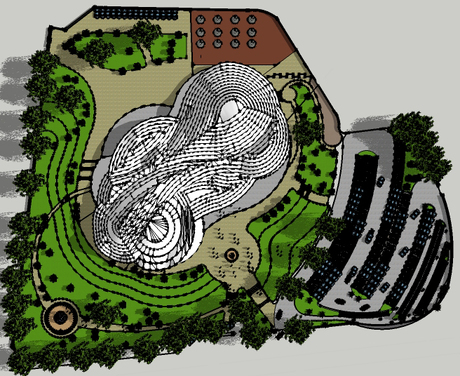Redesigning of Alhambra Art Complex. (master plan)