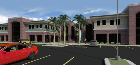 40,000 S.F. Fontana Medical Office buildings. Design Review stage. Completed Revit Renderings and all Auto-Cad Drawings .