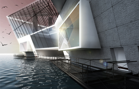 Cinemas' Multiplex between concrete & water