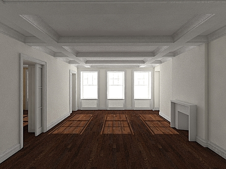 Living room test render to find problems