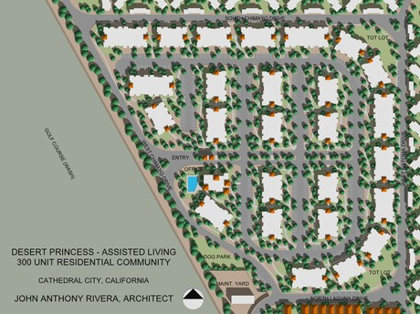 DPCC Assisted Living Community - A proposed 300 Unit Assisted Living Community located within an existing gated resort community to provide security and a sense of connection with the surrounding resort community.