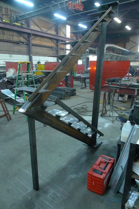 Stair fabrication in procees