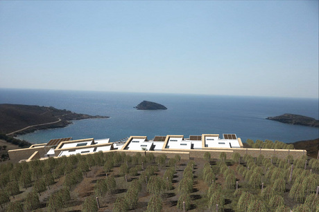 """complex of 3 2-storey resort """"green"""" houses in Syros island"""