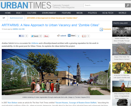 "ARTFARMS: A New Approach to Urban Vacancy and ""Zombie Cities"" on UrbanTimes"