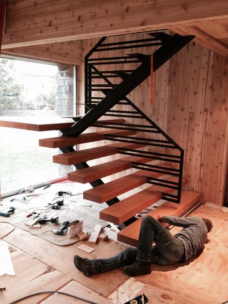 stair installation in progress