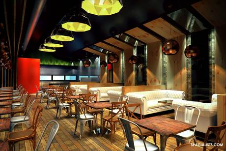 Architectural 3d, Interior 3D, restaurant 3d rendering and design. www.spacialists,com