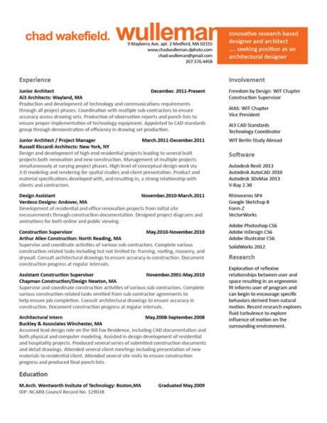 Resume V.2, suggestions welcome and preference between V.1 or V.2