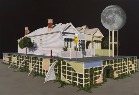 Luna, 2015, oil on canvas, 77 x 112 cm, from the recent exhibition, 'The Animated House', Hill Smith Gallery, Adelaide, South Australia.