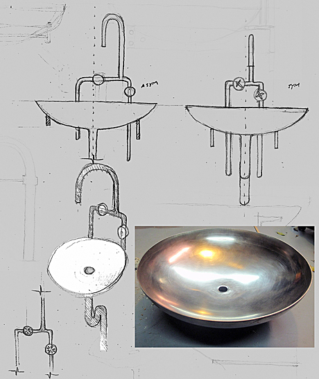 reclaimed SS water tank - sink