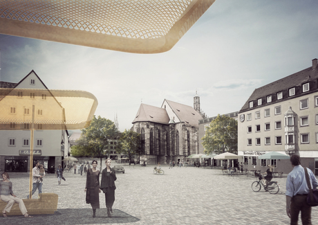 Hauptmarkt Nuremberg Competition with Projectbuero Sinai, Berlin