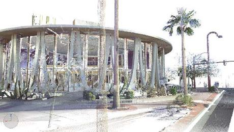 compiling a point cloud for architectural restoration of a googie style '60s bank
