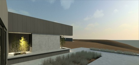 concept design stage for single level 400m2 tilt slab home.